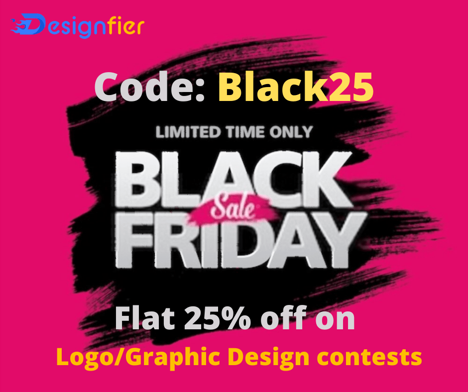 Black friday offer 25% discount on contest launch
